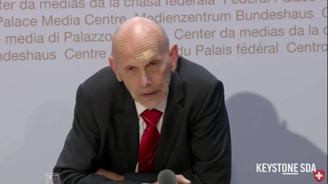 """""""Der Maskenverbrauch ist ziemlich gross"""": Daniel Koch, Leiter der Abteilung Übertragbare Krankheiten BAG. (30.3.2020)"""