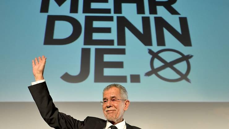 Präsidentschaftskandidat Alexander Van der Bellen bei seinem Wahlkampfauftakt in Wien.