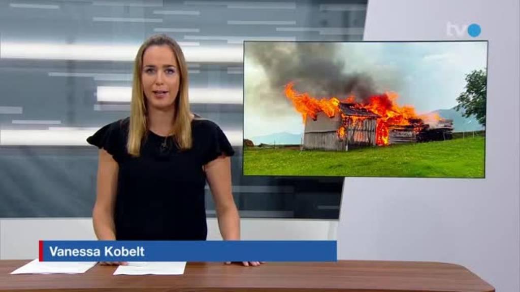Blitzeinschlag: 14 Tiere verbrennen in Stall in Gonten