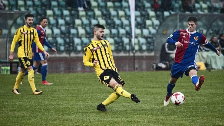 Die Gelbschwarzen BSC Old Boys Basel, hier im Meisterschaftsspiel gegen die U21 von Basel, ist aufgrund der Niederlagen gegen den SC Cham nicht im Schweizer Cup 2018/19 mit dabei.