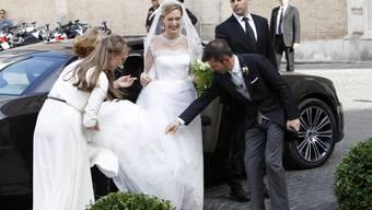 Elisabetta Maria Rosboch von Wolkenstein und Prinz Amedeo bei ihrer Hochzeit vor zwei Jahren. Nun haben sie ihr erstes Kind bekommen. (Archivbild)