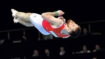 Benjamin Gischard zeigte auch im Final am Boden eine starke Leistung und verpasst eine Medaille als Vierter nur knapp