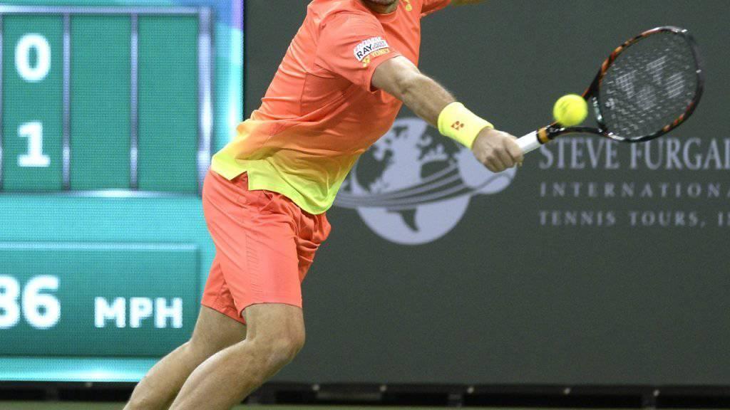 Stan Wawrinka übersteht in Indian Wells auch die zweite Hürde