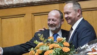 Jürg Stahl ruft Dominique de Buman als neuen Nationalratspräsidenten aus.