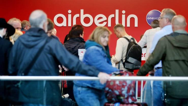 Manchmal ist Geduld gefragt, wenn man mit Billig-Airlines wie Air Berlin fliegt.