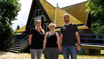 Das Team im Lindenhaus v.l.: Julia Flückiger, Tamara Moser (Leitung) und Matthias Meier-Moreno, Co-Präsident ISG.