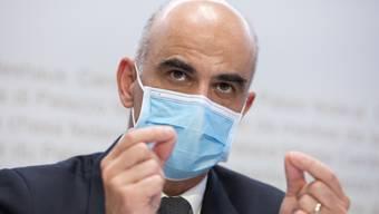 Gesundheitsminister Alain Berset liess sich am Freitag impfen.