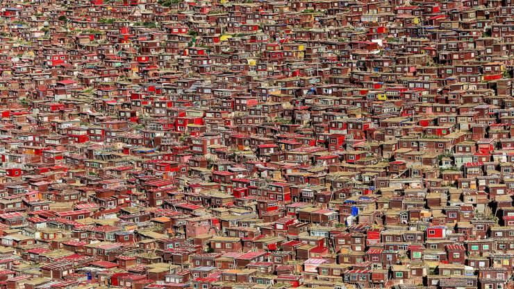 «Rotes Häusermeer: Das Kloster Larung Gar in Osttibet»: Mit diesem Foto kam Patrick Schilling unter die Top 30 beim Cewe-Fotowettbewerb.