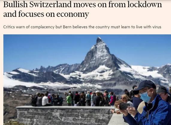"""Die """"Financial Times"""" staunt über die aggressive Öffnung der Schweizer Wirtschaft."""