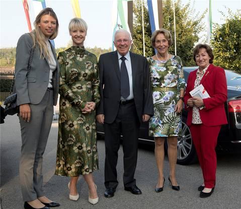 Mit Christoph und Sylvia Blocher im vergangenen August in Kulm. Bild: Michael Würtenberg