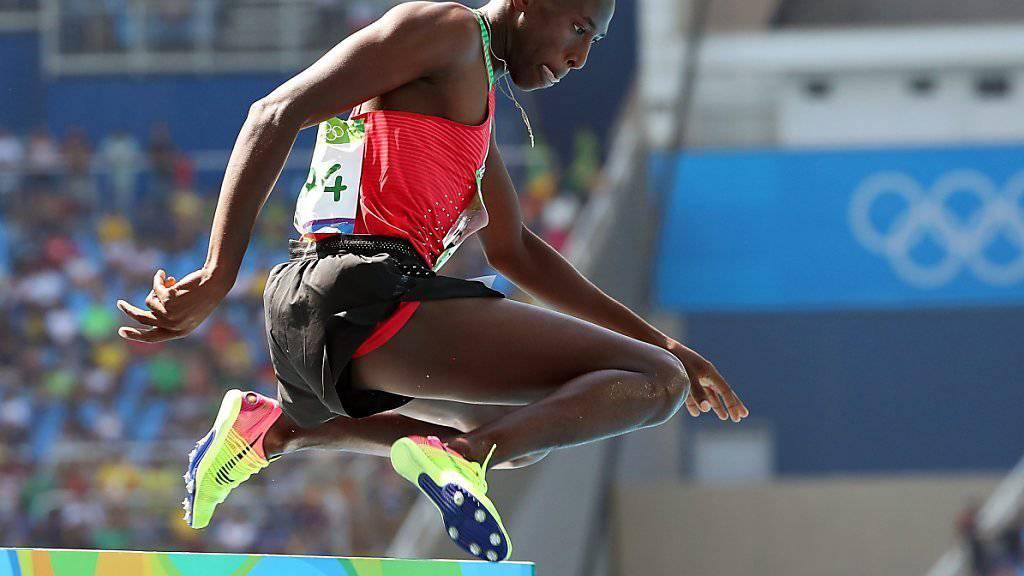 Der Kenianer Conseslus Kipruto feierte über 3000 m Steeple einen deutlichen Sieg