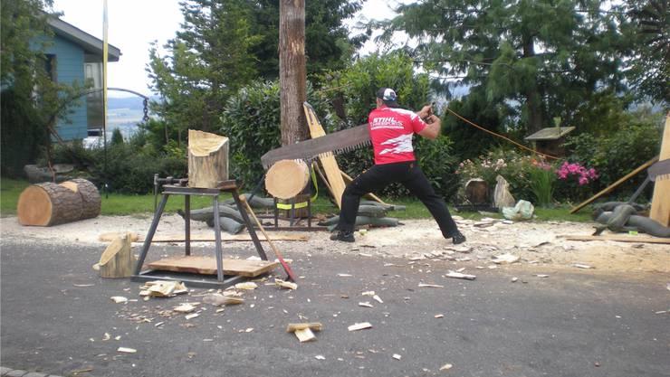 In Bettlach wurde gezeigt, was der Timbersport umfasst.