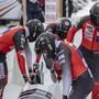 Ein versöhnlicher Abschluss des Weltcup-Wochenendes in St. Moritz: Mit dem Vierer fuhren Michael Vogt und sein Team auf den 10. Platz