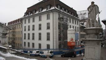 «La Couronne» und der Leisttrakt sind in der Endphase des Umbaus.