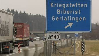 Die Autobahn muss repariert werden