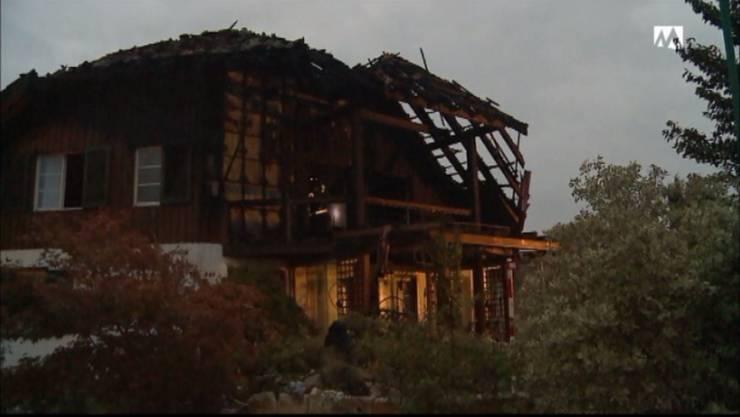 Das beschädigte Haus in Wallbach