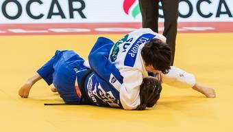 Evelyne Tschopp gewinnt die Hoffnungsrunde, verliert dann aber Bronze.