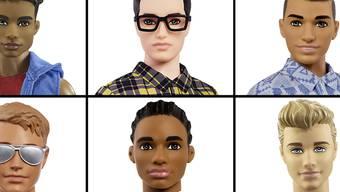 Mit verschiedenen Hautfarben und Frisuren: Die neuen Ken-Puppen sollen für ein moderneres und vielfältigeres Image sorgen.