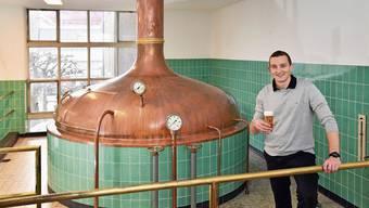 Christoph Karbacher startet neu mit «Barkracher» und besinnt sich auf alte Werte: Das Köhler-Bier entstand hier in Schönenwerd. Blindtext Blindtext Blind Blind Blindtext Blindtext Blind Blind Blindtext