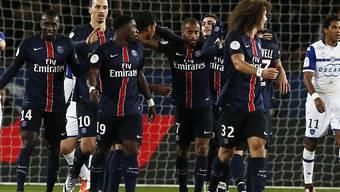 Die Spieler von Paris St-Germain bejubeln bereits den 17. Saisonsieg in 20 Spielen