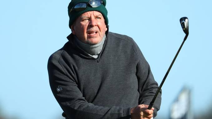 Richemont-Präsident Johann Rupert (70) beim Golfspielen in Carnoustie, Schottland.