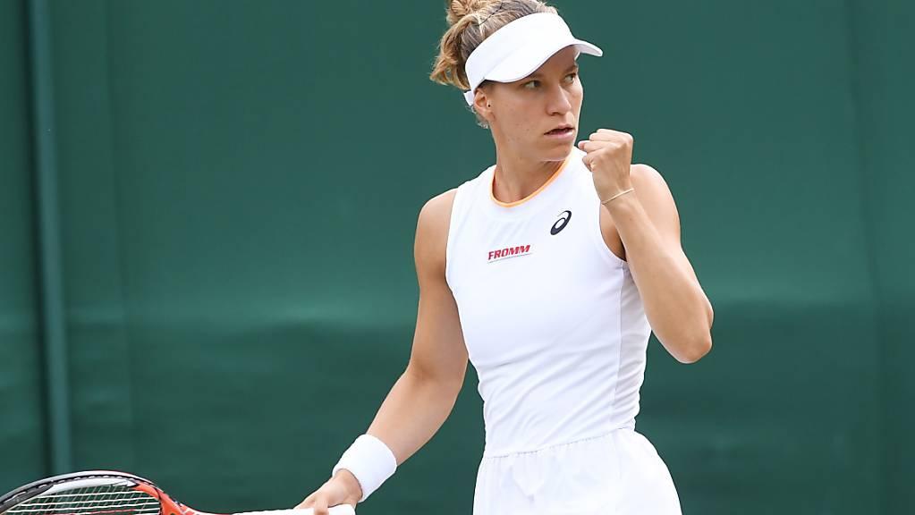 Zurecht die Faust geballt: Viktorija Golubic lässt sich in Wimbledon weiterhin nicht stoppen