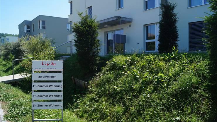 In der Gemeinde Villmergen – hier das Gebiet Eichmattstrasse – stehen nicht weniger als 150 Wohnungen leer.