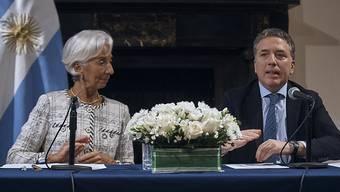 Lagarde und Dujovne: Argentinien und der IWF einigen sich am Mittwoch in New York auf eine Erhöhung der Finanzhilfe.