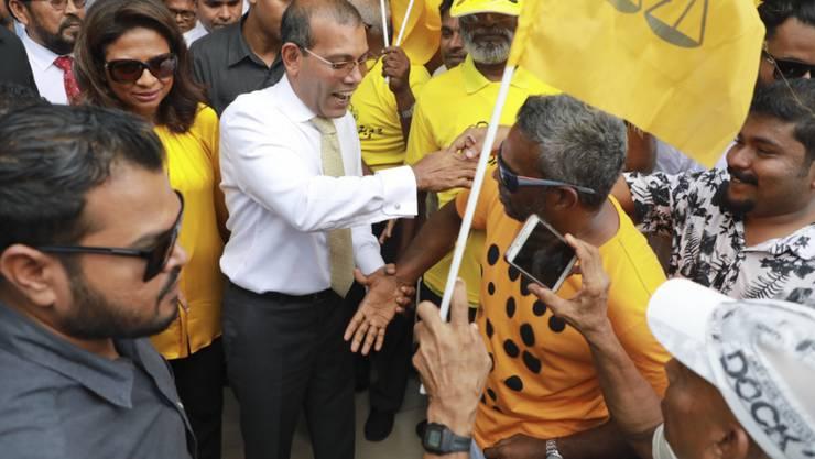 Bei der Parlamentswahl auf den Malediven-Inseln gewann die Partei von Ex-Präsident Mohamed Nasheed eine Zwei-Drittel-Mehrheit. (Archivbild)