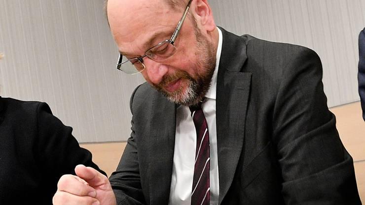 SPD-Chef Martin Schulz sieht seine Partei mit schlechten Umfragewerten bei den Wählern konfrontiert. (Archivbild)
