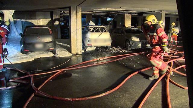 Tiefgaragen-Brand: Mehr als 60 Personen evakuiert