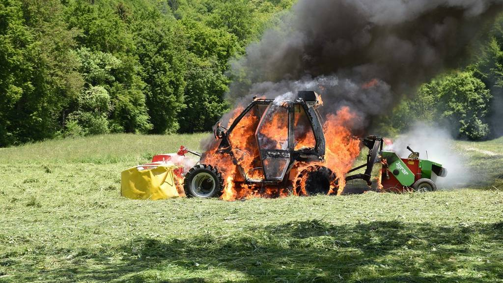 Der Motorkarren war nicht mehr zu retten.