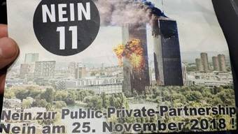 «Nein 11»: Geschmackloser Flyer gegen das Hardturmstadion.