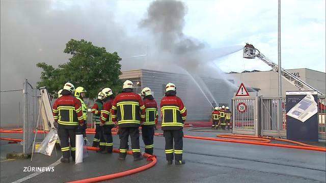 Forstwerkhof brannte lichterloh