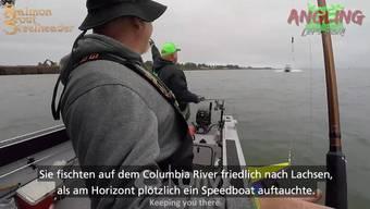 Sie fischten friedlich auf dem Columbia River bei Oregon - als plötzlich ein Speedboat auf sie zuraste.