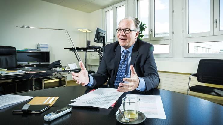 Boris Zürcher, Direktor der Direktion für Arbeit des Seco (Staatssekretariat für Wirtschaft). Aufgenommen am 10. August 2016 am Holzikofenweg 36 in Bern.