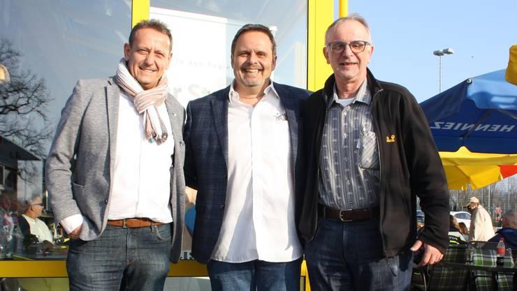 Bleiben im Kantonsrat André Bender, Rochus Burtscher, Pierre Dalcher.