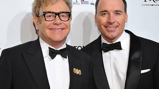 Elton John und David Furnish (Archiv)