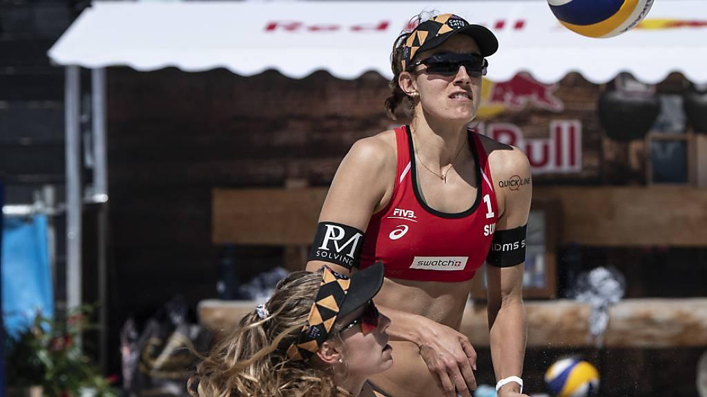 Am Samstag in Aktion, zwei Tage später spielfrei: Nina Betschart (li.) und Tanja Hüberli