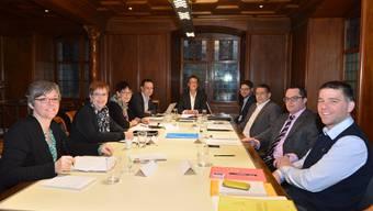 Der Stadtrat Baden in seiner Zusammensetzung von Anfang 2014.
