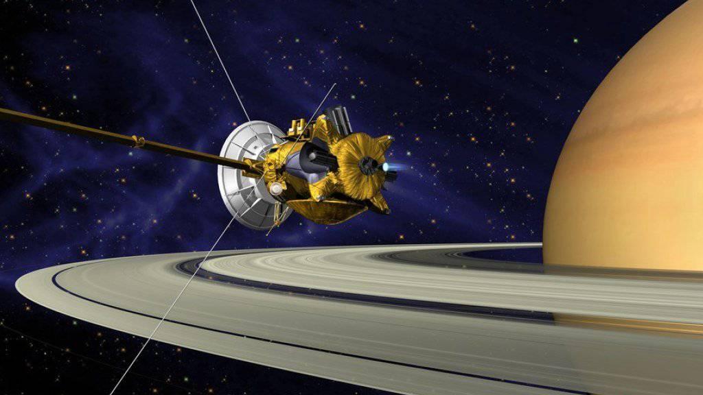 NASA-Illustration der nun verglühten Raumsonde «Cassini».