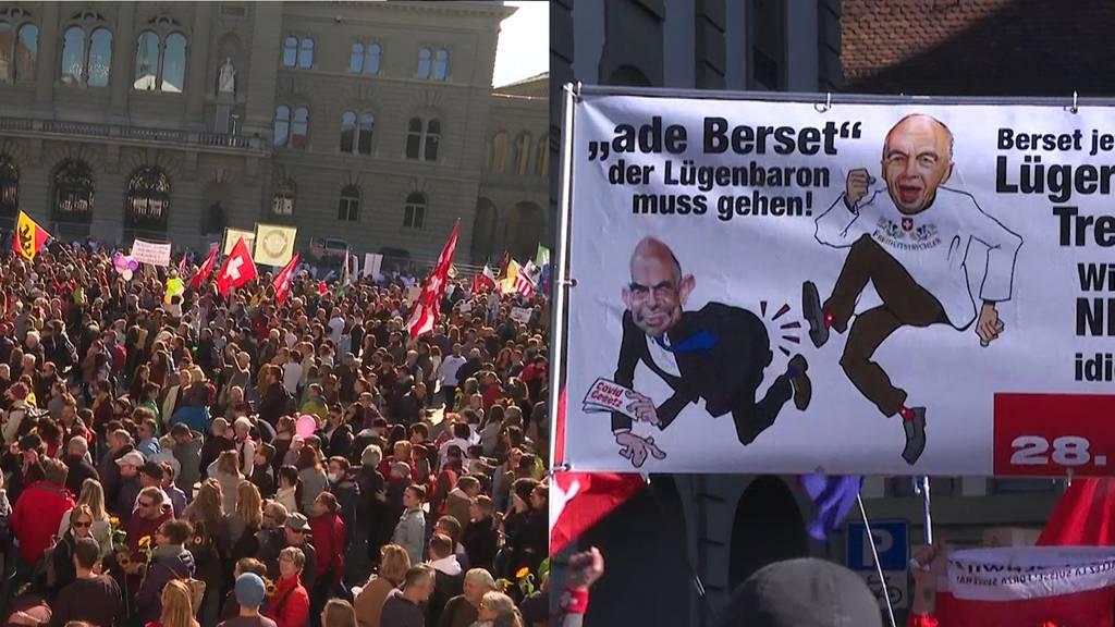 Mega-Demo in Bern: Tausende protestieren gegen bundesrätliche Covid-Politik