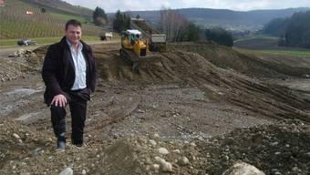 Bauunternehmer Markus Birchmeier im Gebiet Buchselhalde. (Archivbild von 2014)