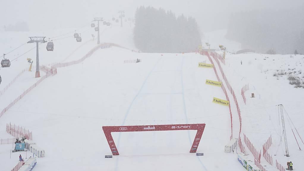 Das Wetter spielte zum Auftakt des Rennwochenendes in Saalbach-Hinterglemm nicht mit