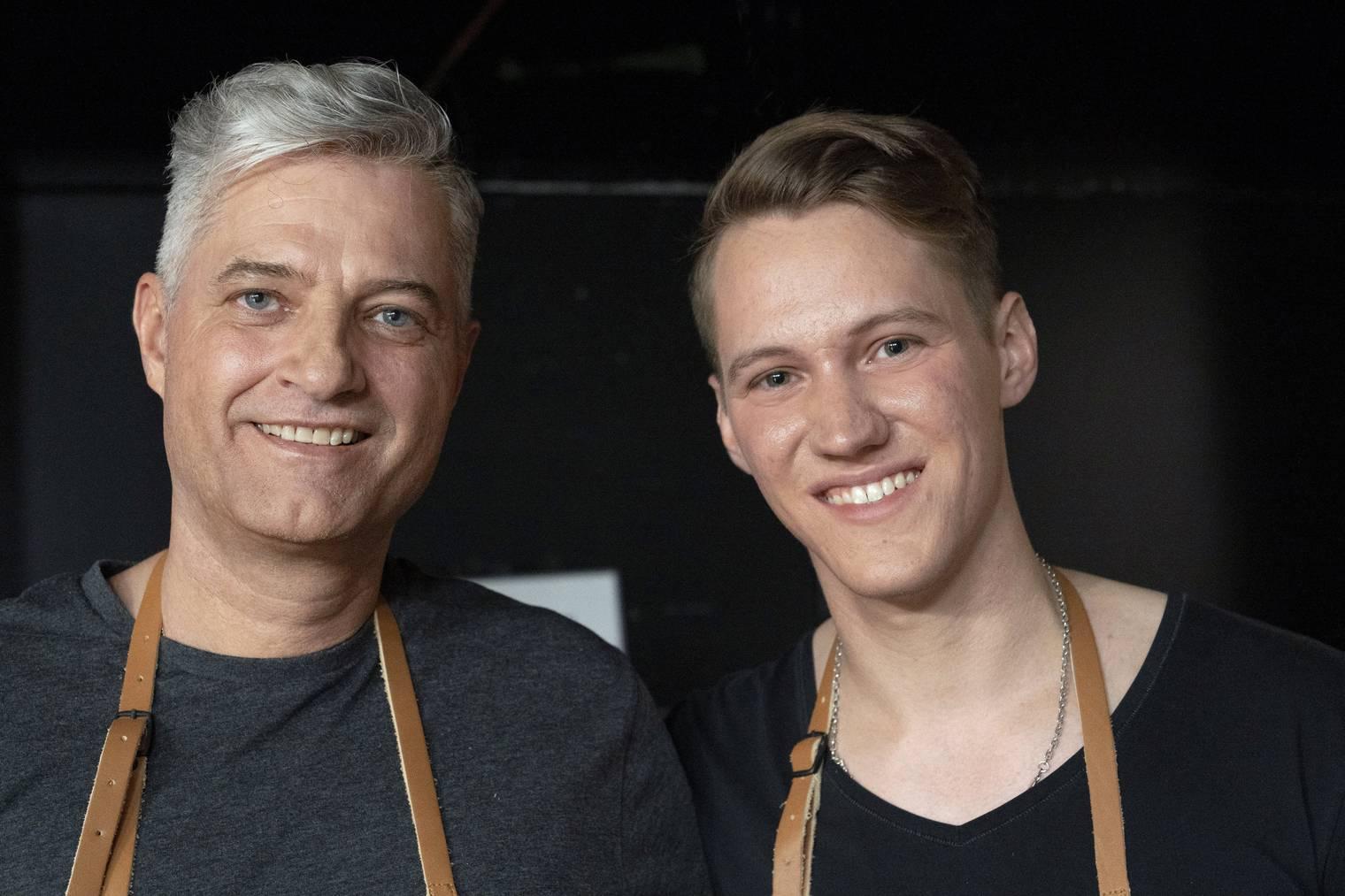 Roland Laux und Kevin Allemann von Mastercoldbrewer AG. (Foto: TV24)