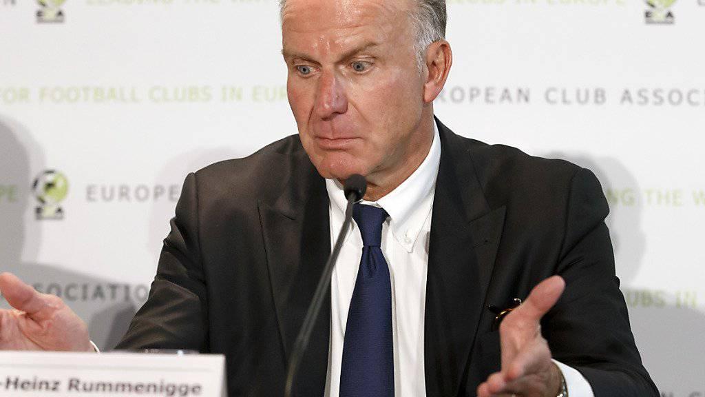 Kündigte nach dem 0:3 in Paris Konsequenzen an: Bayerns Vorstandschef Karl-Heinz Rummenigge