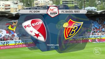Super League, 2017/18, 6. Runde, FC Sion - FC Basel, Highlights
