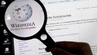 Wikipedia protestiert gegen die EU-Urheberrechtsreform. (Archivbild)