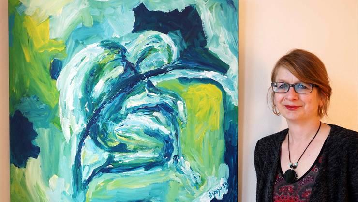 «Sagittarius - blue sky» ist eines der Werke von Jeannette Hasler-Gobbi. Ursula Burgherr