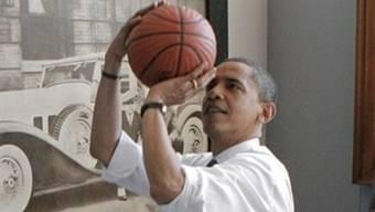 Obama ist ein grosser Basketball-Fan (Archiv)